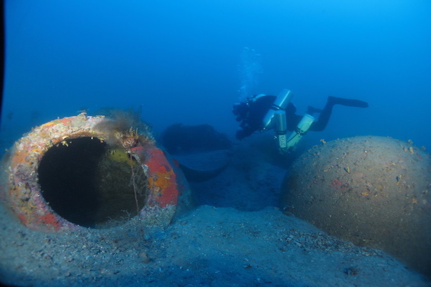 immersione relitto romano dei dolia isola d' elba
