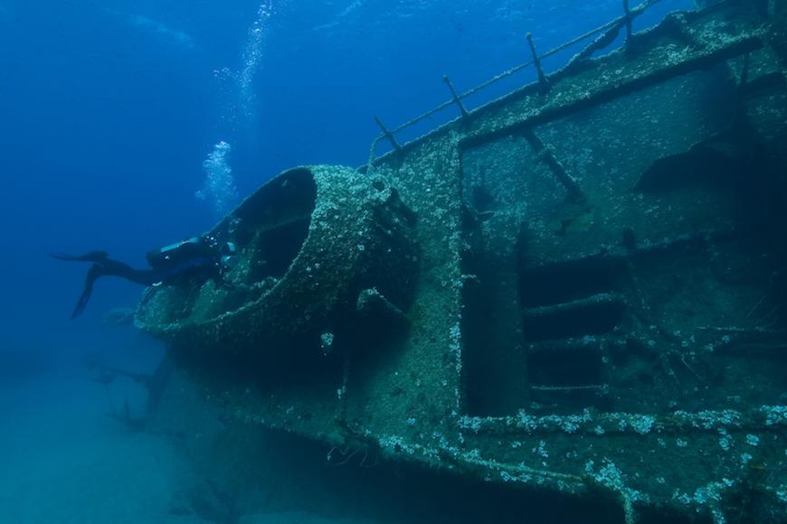 immersione relitto di pomonte isola d' elba