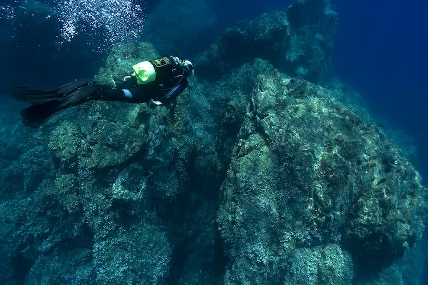 immersione secca di mortigliano isola d' elba